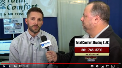 Patrick Aaron, from Total Comfort, at the 2020 Washington County Home Show
